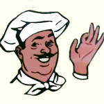 Rainbow Taverna logo of a Chef