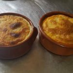 Moussaka served in individual round dishes